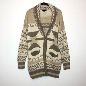I Jean By Buffalo Cardigan Aztec Oversized Size M